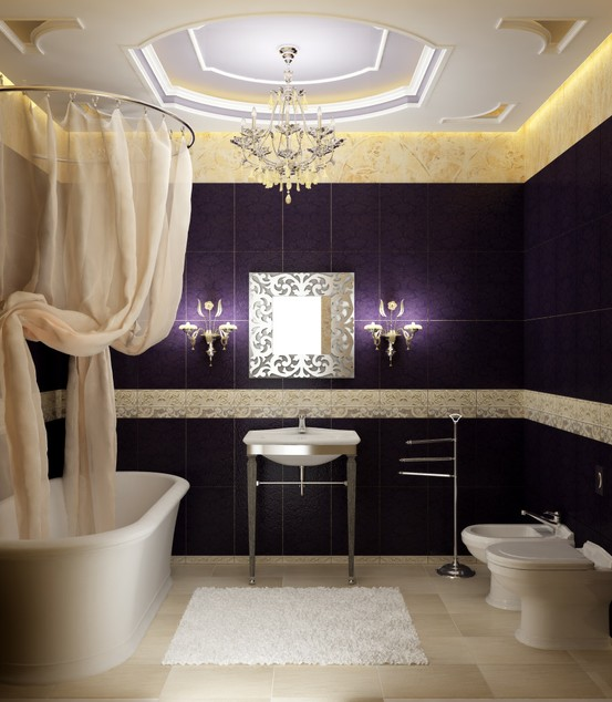 High Quality Purple Bathroom Design Ideas