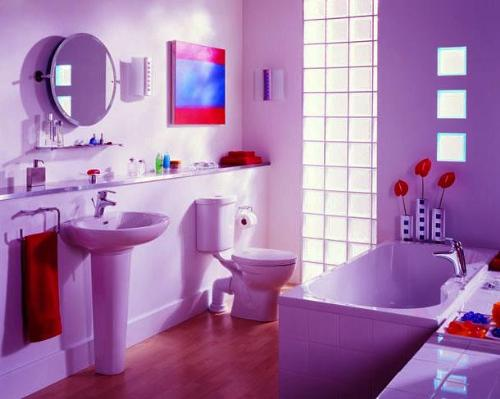 33 cool purple bathroom design ideas digsdigs for Cool bathroom ideas for girls