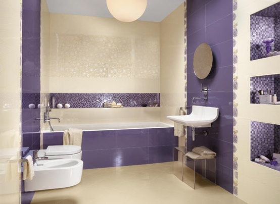 33 cool purple bathroom design ideas digsdigs. Black Bedroom Furniture Sets. Home Design Ideas