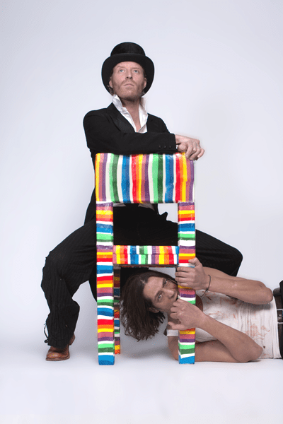Rainbow Colored Chair Made Of Sugar