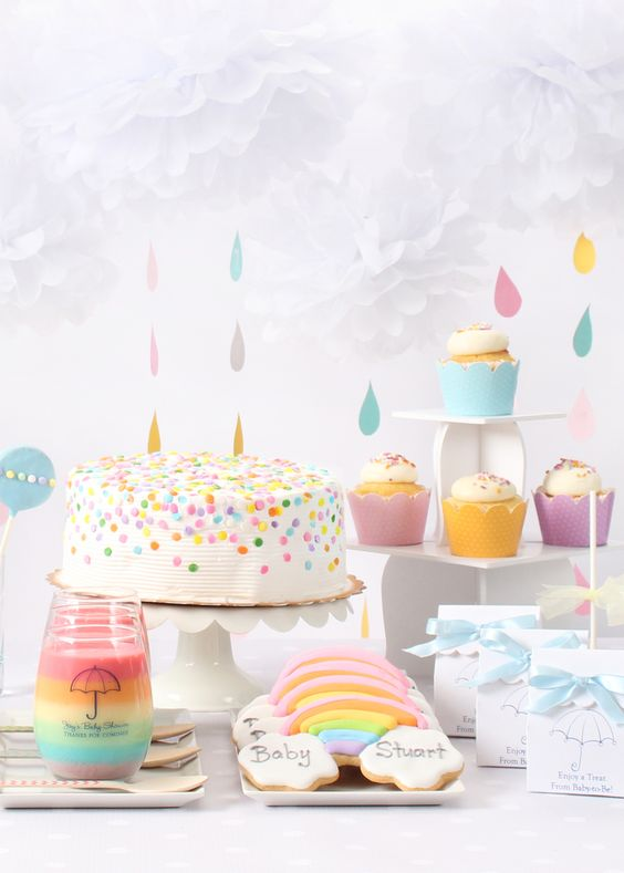 rainbow gender neutral baby shower