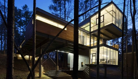Architect's House Surrounded by Untouched Nature