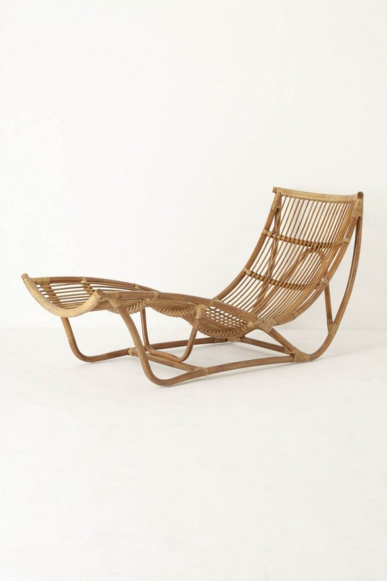 22 rattan lounge chairs for outdoor summer d cor digsdigs for Chaise longue rotin