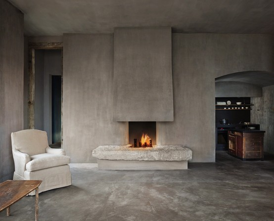 Raw Industrial Penthouse In Dark Earthy Shades