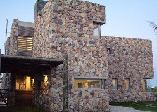 Raw Stone Wood House