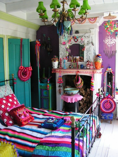 Interior Colorful Bedroom Decor 69 colorful bedroom design ideas digsdigs really in eclectic style