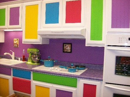 Kitchen Wallpaper on 57 Bright And Colorful Kitchen Design Ideas   Digsdigs