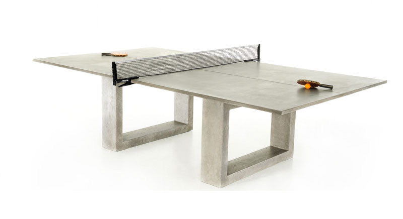 Really cool ping pong dining table made of concrete and for Table ping pong
