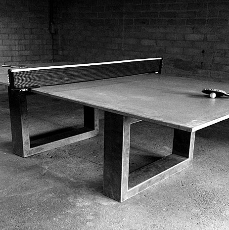Really Cool Ping Pong Dining Table Made Of Concrete And Steel