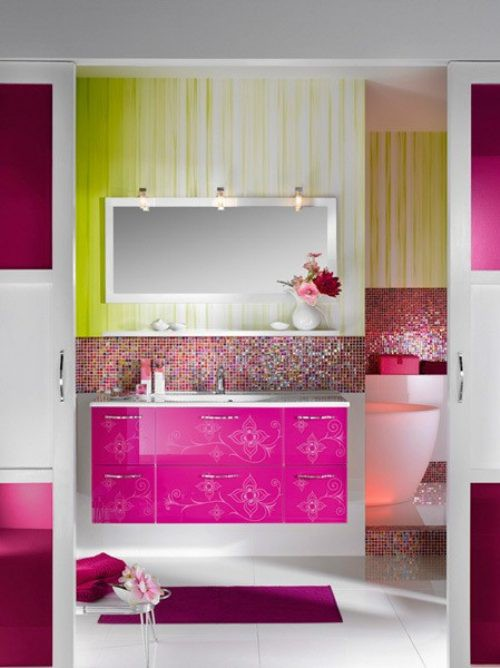 Really Modern And Colorful Bathroom