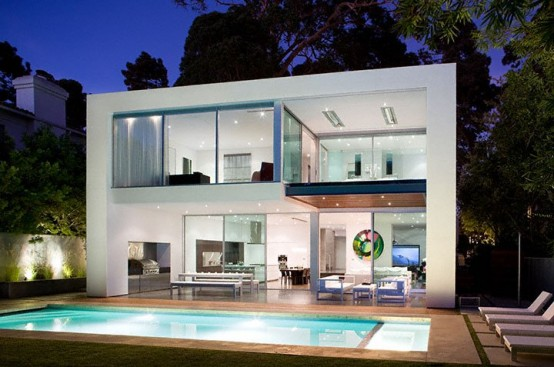 Really Modern Pool House