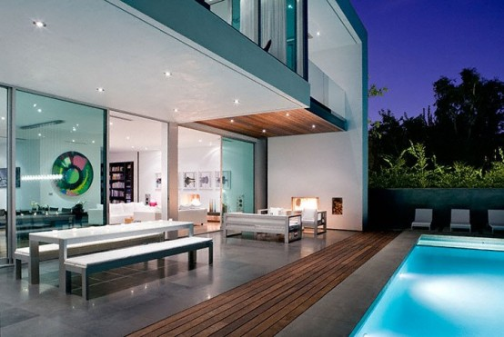 really modern pool house - Simple Modern House Interior