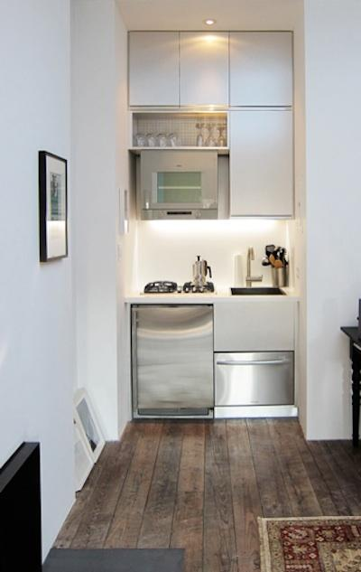 Really Tiny Built In Kitchen