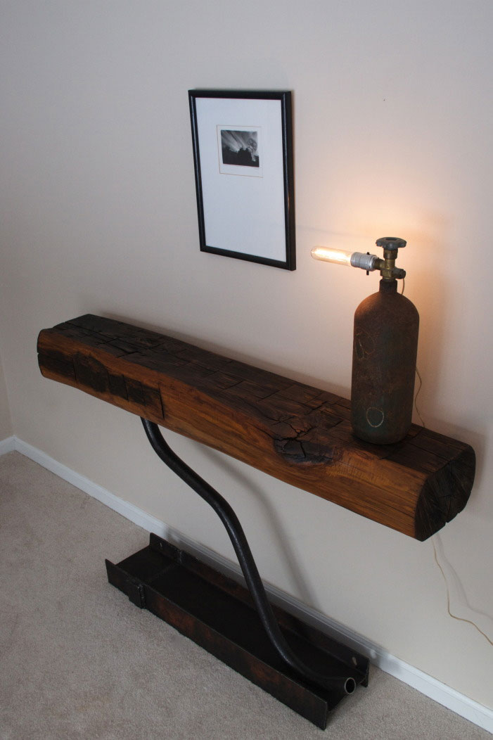 Reclaimed Wood Tables Made Of 1800s Beams DigsDigs