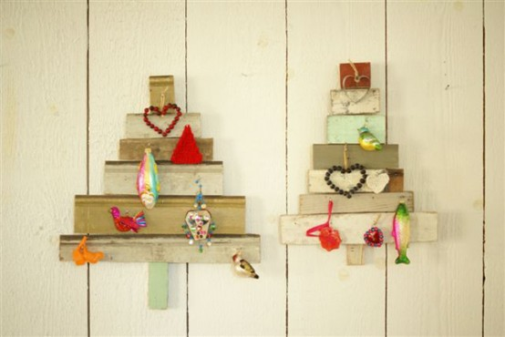 Recycled Wooden X Mas Trees