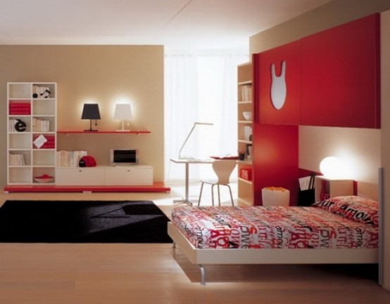 Red Accents In Bedrooms