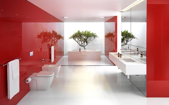 Bathroom Red 39 cool and bold red bathroom design ideas - digsdigs