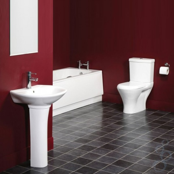 Nice Red Bathroom Design Ideas