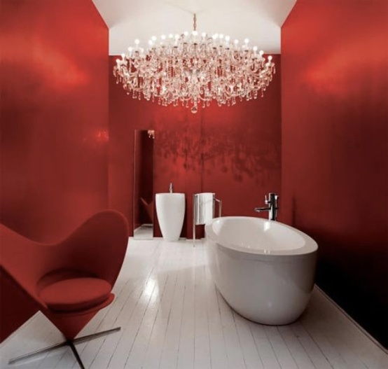 Red Bathroom Design Ideas