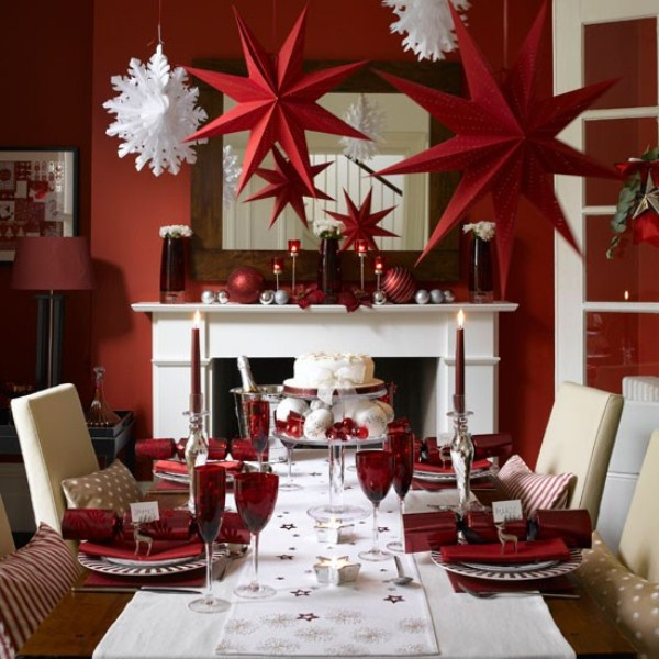 Fun Christmas Table Decorations: 40 Christmas Decoration Ideas In All Shades Of Red