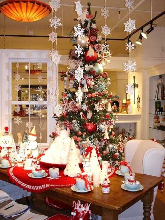 red christmas decoration ideas - Christmas House Decoration Ideas