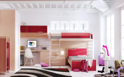 Red Teen Room
