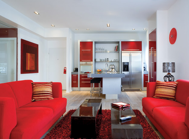 Red-White Apartment