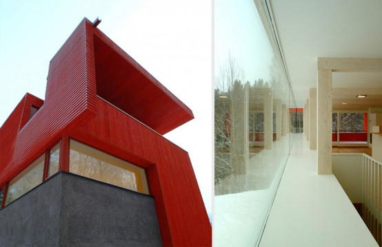 The Red Wooden House by JVA