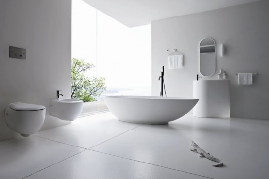 Refine Black And White Sanitary Ware For Modern Bathroom