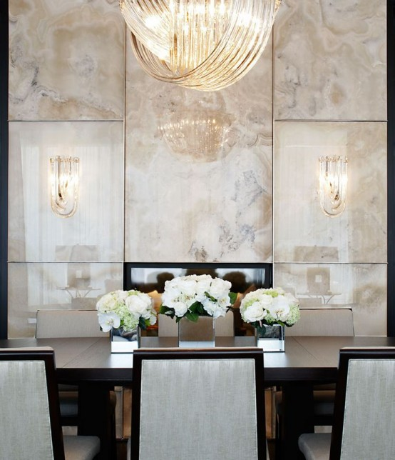Feast Your Eyes Gorgeous Dining Room Decorating Ideas: 29 Refined Onyx Décor Ideas For Any Interiors
