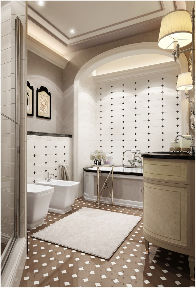 Refined Bathroom Design Inspired By Coco Chanel Style