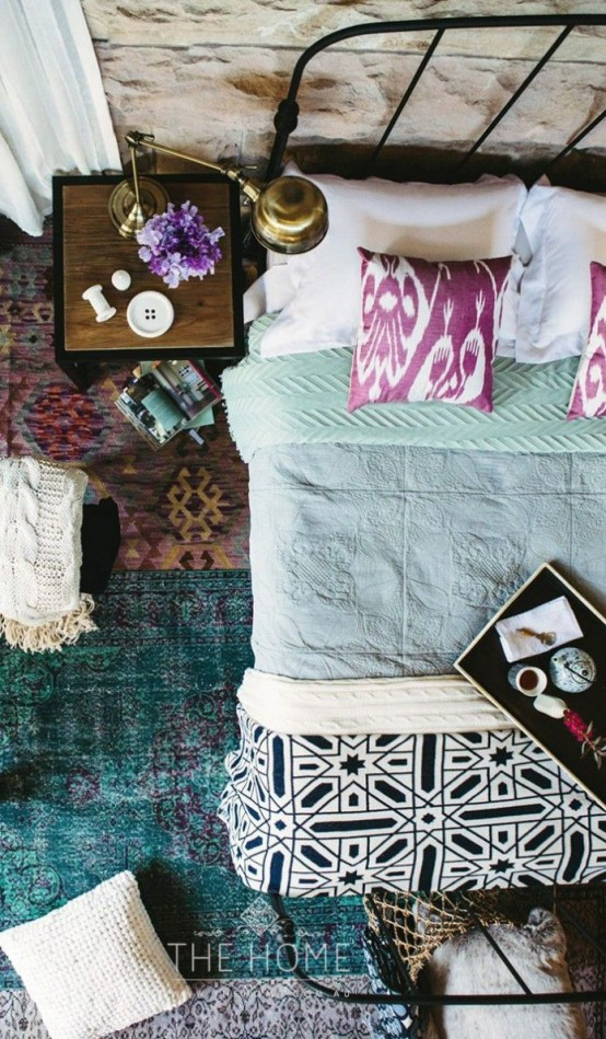 Layered rugs would bring flair to any space.