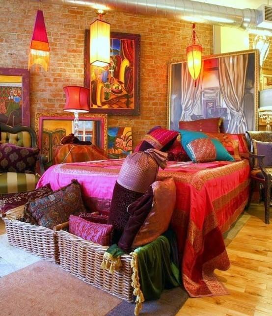 65 refined boho chic bedroom designs digsdigs for Aztec bedroom ideas