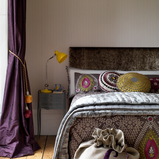 Layered patterns and textures is one of the main characteristics of boho style interiors.