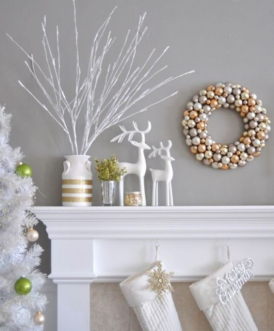 refined gold and white christmas decor ideas