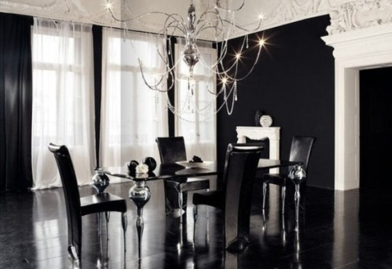 Refined Gothic Kitchen And Dining Room Designs