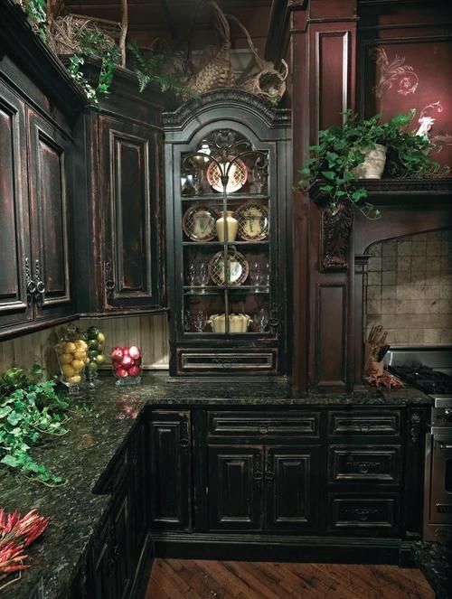 20 refined gothic kitchen and dining room designs digsdigs for Witches kitchen ideas