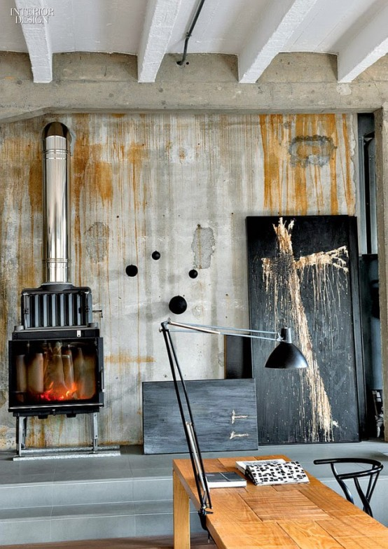 Refined Industrial Loft With A Strong Masculine Character