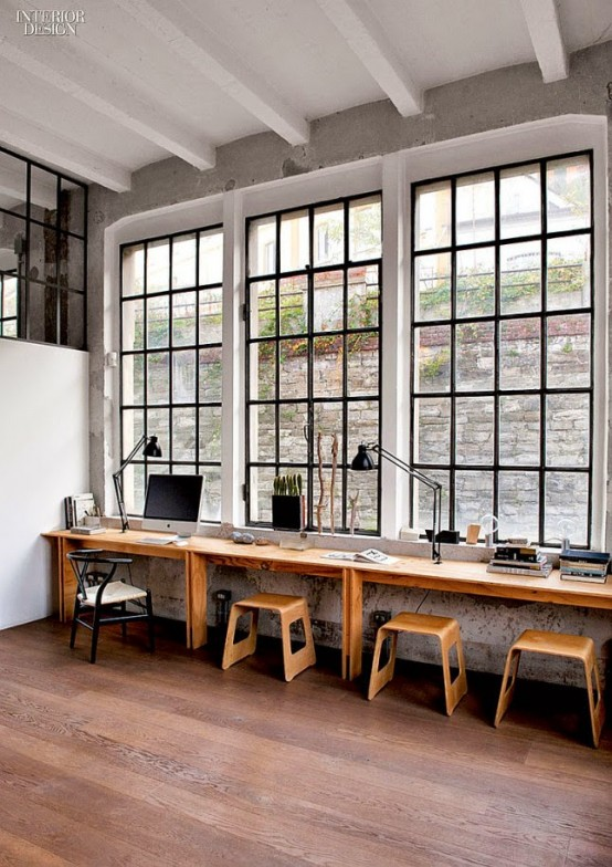 Refined industrial loft with a strong masculine character digsdigs - Elegant minimalist loft design in masculine vibe wooden decoration ...