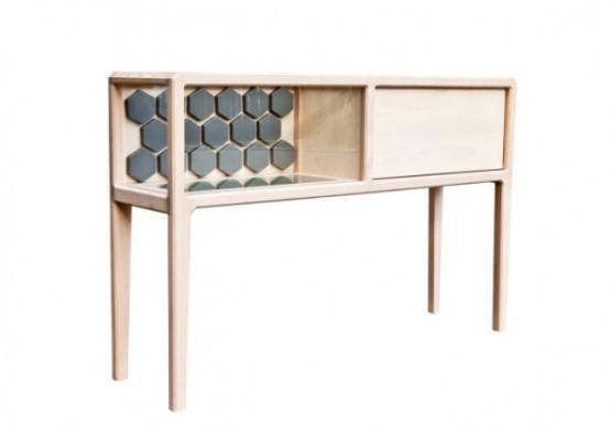 Refined Linnk Liquor Kabinet With Geometric Design