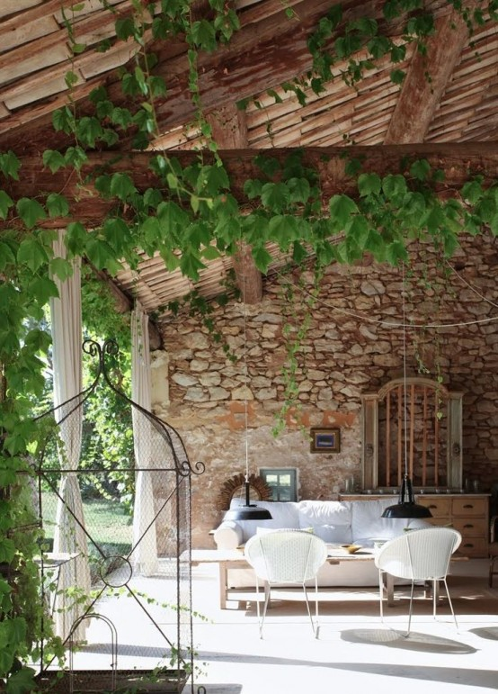 34 refined provence inspired terrace d cor ideas digsdigs. Black Bedroom Furniture Sets. Home Design Ideas