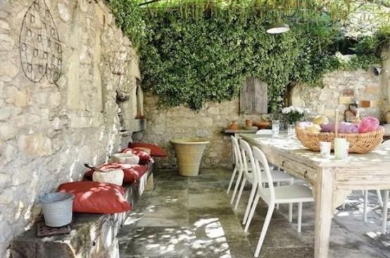 Refined Provence Styled Terrace Decor Ideas