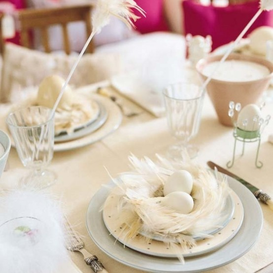 Refined White Easter Decor Ideas