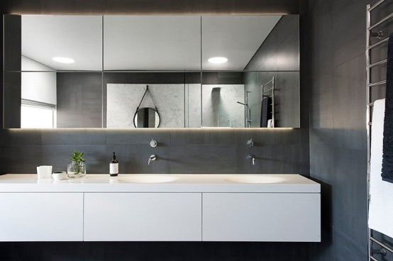 Refined Yet Minimalist Bathroom Design With Greenery - Digsdigs