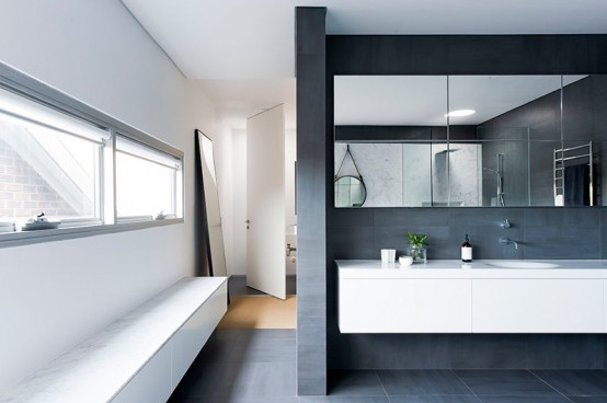 refined yet minimalist bathroom design with greenery - Minimalist Bathroom Design