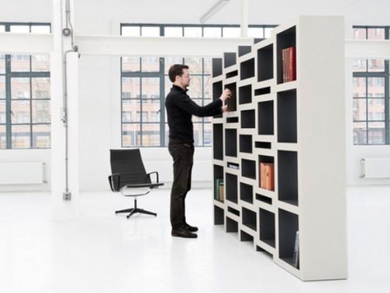 REK Expanding Bookcase With Sliding Parts