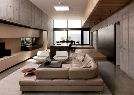 Relaxing And Inspiring Modern Residence In Neutral Colors