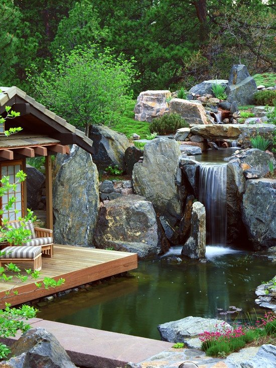 75 relaxing garden and backyard waterfalls digsdigs for Garden pond waterfalls for sale