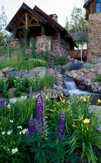 With careful planning your backyard could look like it is part of some mountain landscape.