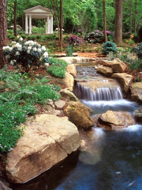Relaxing Backyard And Garden Waterfalls